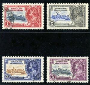 Somaliland 1935 KGV Silver Jubilee set complete VFU. SG 86-89. Sc 77-80.