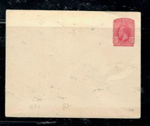 GAMBIA COVER (P3006B) KGV 1 1/2D EP3 PSE  UNUSED