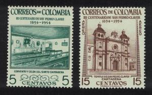 Colombia Death Tercentenary of San Pedro Claver 2v SG#817+819