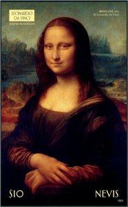 HERRICKSTAMP NEW ISSUES NEVIS Da Vinci Painting S/S Mona Lisa