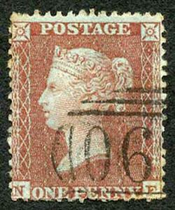 Penny Star (NF) C3 Plate 3 (Corner Crease) SUPERB Used Cat 150 pounds