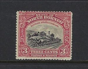 NORTH BORNEO SCOTT #138 1909-22 PICTORIALS PERF 14- 3 CENT- MINT HINGED