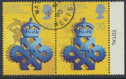 Great Britain SG 1497a  ( SG 1497 / 98 ) Used   - Queen's Award Export & Tech...