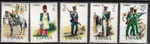 Spain - 1976 Uniform  Sc# 1989/1993 - MNH (172N)