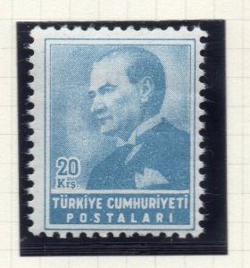 Turkey 1955 Early Issue Fine Mint Hinged 20k. NW-18213