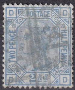 Great Britain #68 Plate 20 F-VF Used  CV $65.00 (A19493)