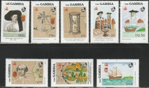Gambia,  #788-795  Unused From 1988