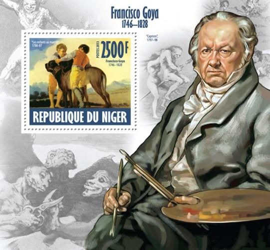 NIGER 2013 SHEET FRANCISCO DE GOYA ART PAINTINGS nig13607b