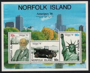 Norfolk 'Ameripex '86' International Stamp Exhibition Chicago MS SG#MS388