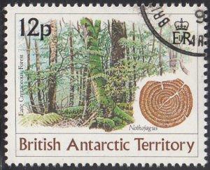 British Antarctic Territory 1991 used Sc #172 12p Late Cretaceous forest