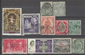 COLLECTION LOT # 3726 MALTA 11 STAMPS 1885+ CV+$13
