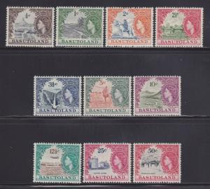 Basutoland 72-81 VF-MLH nice colors cv $ 74 ! see pic !