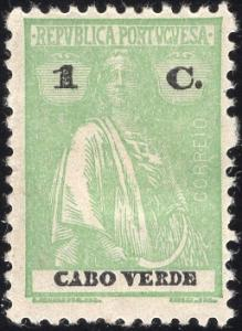 Cape Verde 175 - Mint-H - 1c Ceres (Perf 12x11.5) (1922)