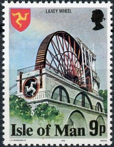 Isle of Man #118 9p Laxey Wheel MNH