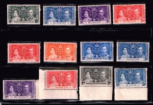 UK STAMP 1937 Coronation ISSUE COLLECTION LOT MNH/OG STAMP COLLECTION LOT #S6