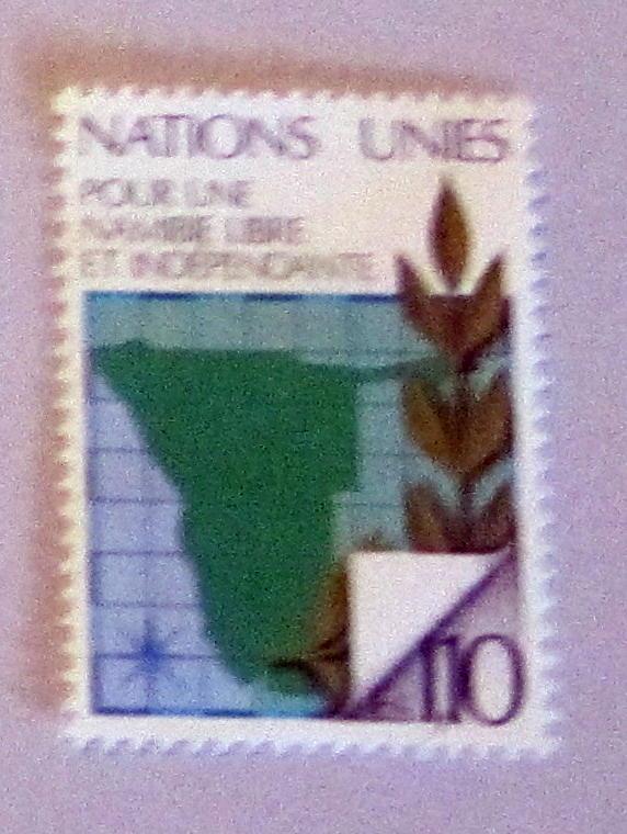 UN, Geneva - 86, MNH, Complete. Map of Nambia. SCV - $0.60