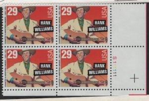 US, 2723, MNH, 1992, PLATE BLOCK, AMERICAN MUSIC SERIES