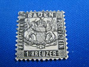 GERMANY - BADEN  - SCOTT # 19  USED   (wr)
