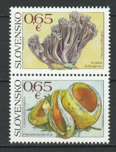 Slovakia 2017 Mushrooms 2 MNH stamps