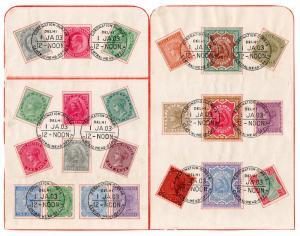 (I.B) India Postal : Coronation Durbar Presentation Sheets (Dehli 1903)