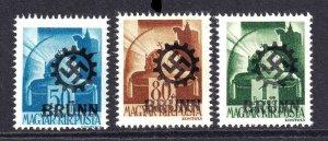 HUNGARY 614-616 BRÜNN OVERPRINT OG NH U/M F/VF TO VF BEAUTIFUL GUM #2
