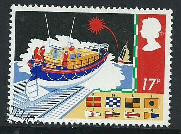 GB  QEII  SG 1286 Safety at Sea VFU Bureau Cancel