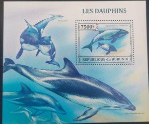 U) 2012, BURUNDI, ORCA WHALE, MARINE LIFE, MNH