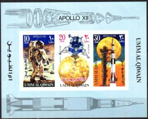 {UU023} Umm al Qiwain Space Apollo 12 S/S MNH