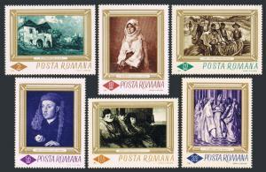 Romania 1859-1864,MNH. Michel 2519-2524.Paintings 1966.Gheorge Petrascu,El Greco