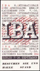 Germany  Berlin International Office Exhibition Label Unused lightly hinged.
