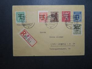 Germany 1948 Soviet Zone Cover to Leipzig (1 Stamp Removed) - Z11866