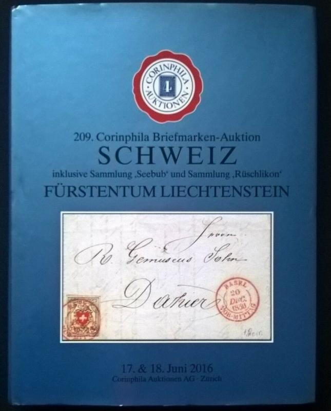 Auction catalog SCHWEIZ Seebub Ruschlikon Specialised SWITZERLAND Stamps Covers