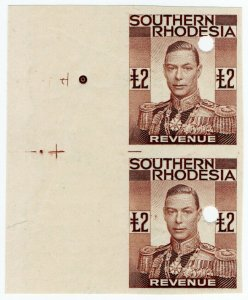 (I.B-BOB) Southern Rhodesia Revenue : Duty Stamp £2 (printer's proof)