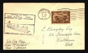 Canada 1929 FFC - Ft McMurray to Ft Simpson - Z16671