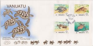 Vanuatu Scott 577-580 Unaddressed.