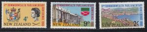 New Zealand # 375-377, Parliamentary Association Conference, NH, 1/2 Cat.