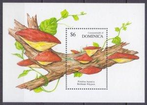 1991 Dominica 1402/B182 Mushrooms 6,00 €