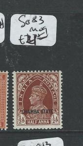 INDIA CHAMBA (PP0804B) KGVI 1/2A  SG 83  MOG