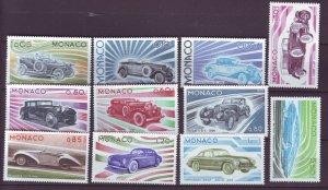 J22071 Jlstamps 1975 monaco set mnh #980-90 cars autos