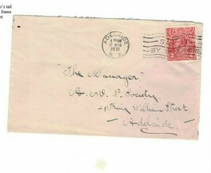 APH1486) Australia 1931 2d Red KGV Die I Small Cover