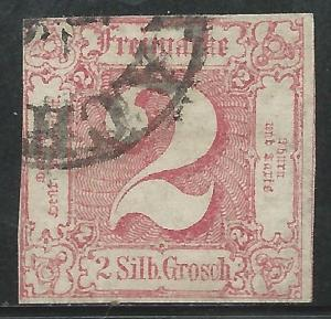German States Thurns & Taxis Scott #11 Used Sound Stamp