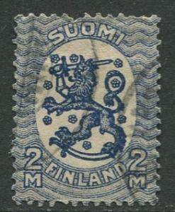 Finland - Scott 105 - Arms of Republic -1917- Used - Single 2m Stamp