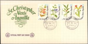 Saint Kitts, Worldwide First Day Cover, Flowers