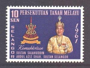 Malaya Selangor Scott 113 - SG128, 1961 Coronation 10c MNH**