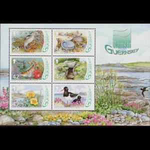 GUERNSEY 2006 - Scott# 917a S/S Wetland Fauna NH