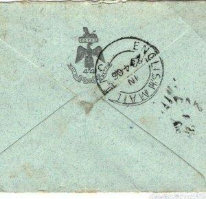 INDIA KEVII Cover AUSTRALIA Victoria Pakenham RAILWAY *ENGLISH MAIL TPO*1906 FC9