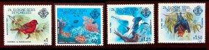 Seychelles First Definitive Birds, Marine Life, Bat (1980) MNH