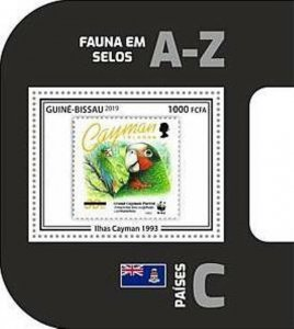 Guinea-Bissau - 2019 WWF Fauna Stamp on Stamp - Souvenir Sheet - GB190403b15
