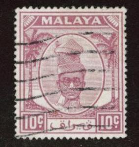MALAYA Perak Scott 111 used stamp from 1950
