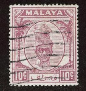 MALAYA Perak Scott 111 used stamp from 1950
